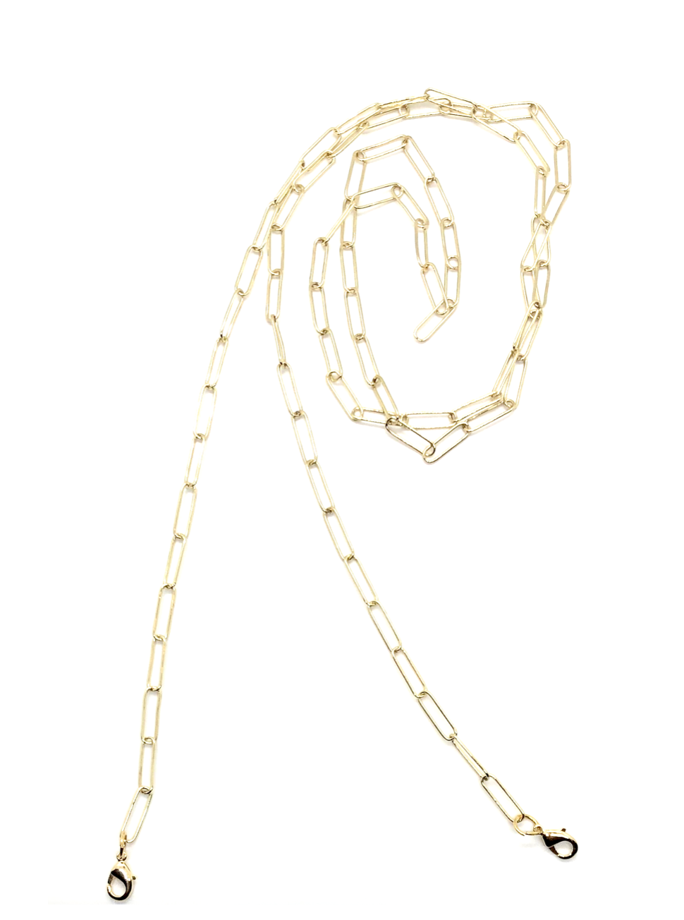 Gold Paperclip Chain Mask Strap