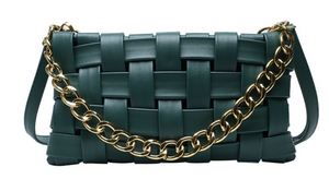 Heather Braided Bag- Green