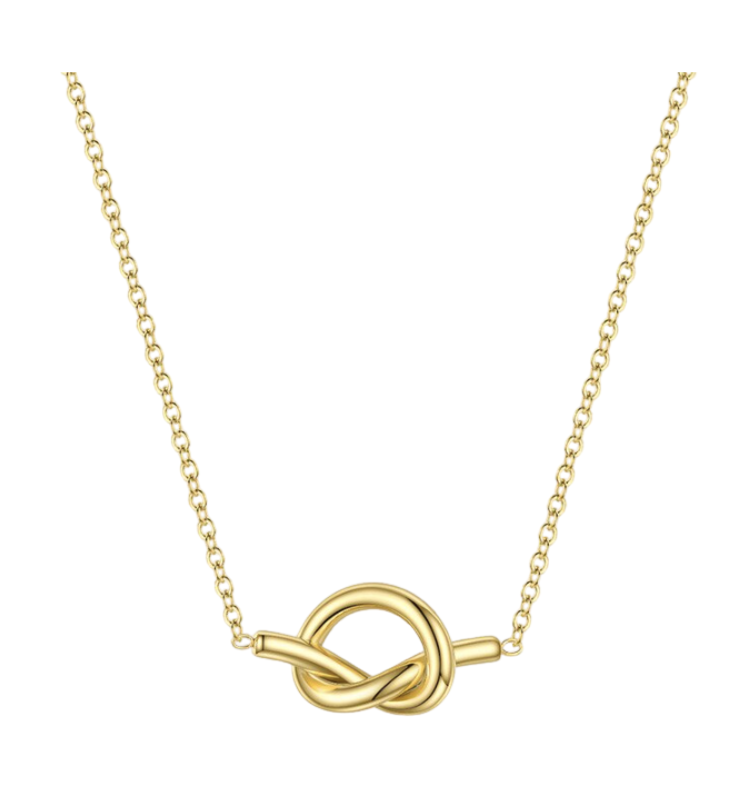 Gold Reverse Knot Necklace