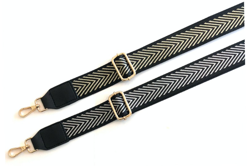 Metallic Chevron Bag Straps
