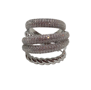 Silver Cable Luxe Ring