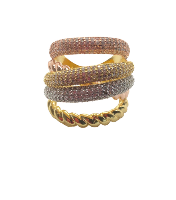 Mixed Metal Cable Luxe Ring- pre-order ships in 2 weeks