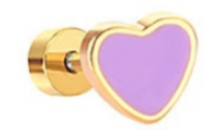 Color my Heart Studs