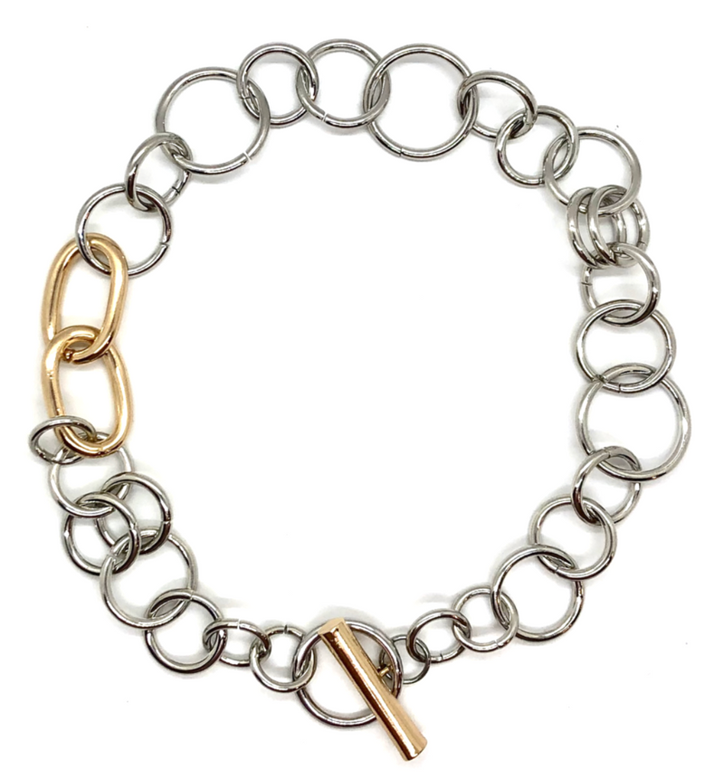 Rebel Mixed Metal Collar