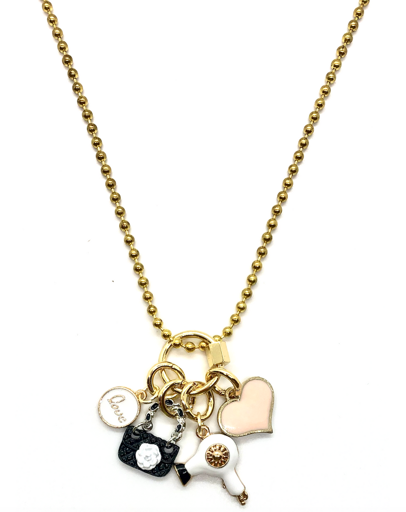 Fashionista Charm Necklace