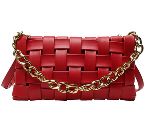 Heather Braided Bag- Red