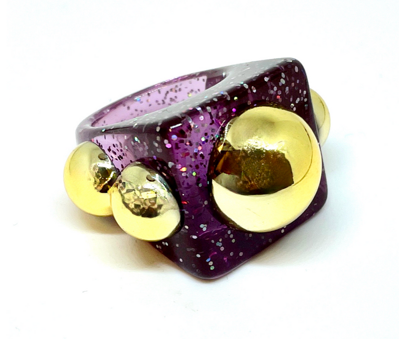 Hip To Be Square Ring-Purple