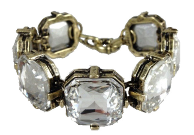 Rock Around Cushion Cut Bracelet -(more colors)