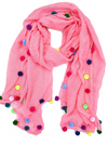 Pom Pom Scarf - (more colors)