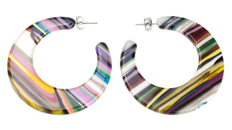 Brady Resin Stripe Hoops