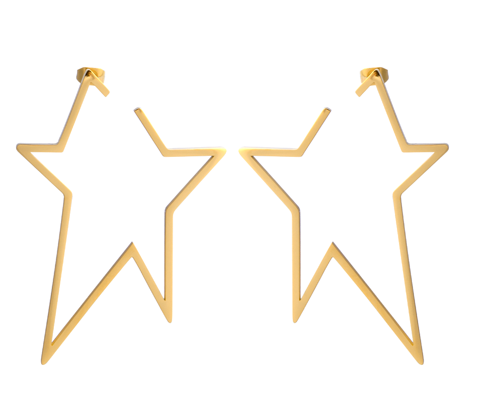 A Star is Born Earrings (case pack of 2) -wholesale