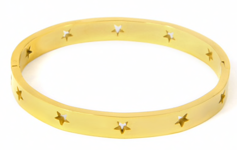 Cut Out Star Bangle (more colors)