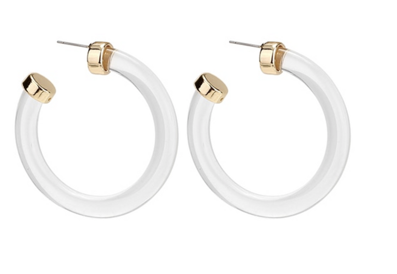 Clear Harper Hoops