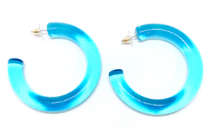 Sorbet Lucite Hoops -(more colors)