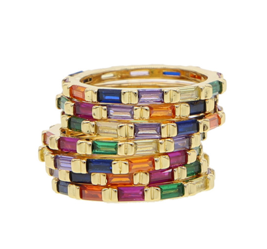 Baguette Stack Rings -sold individually