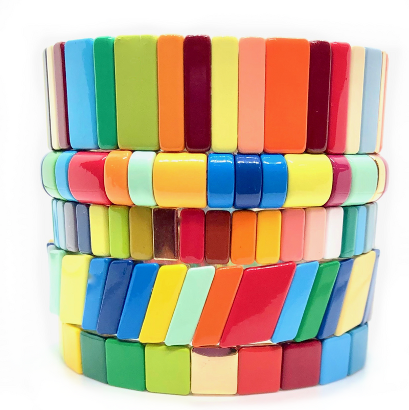 Color Crush Tile Bracelets (sold individually)- PRE ORDER, SHIP MID FEB.