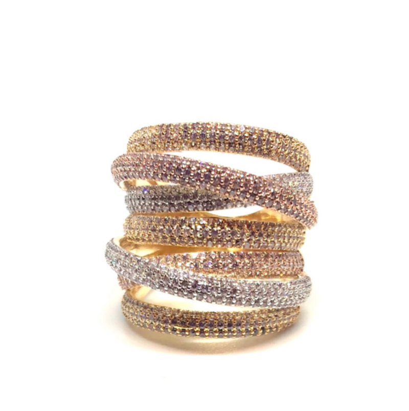 Grande Twisted Luxe Ring-Mixed Metal