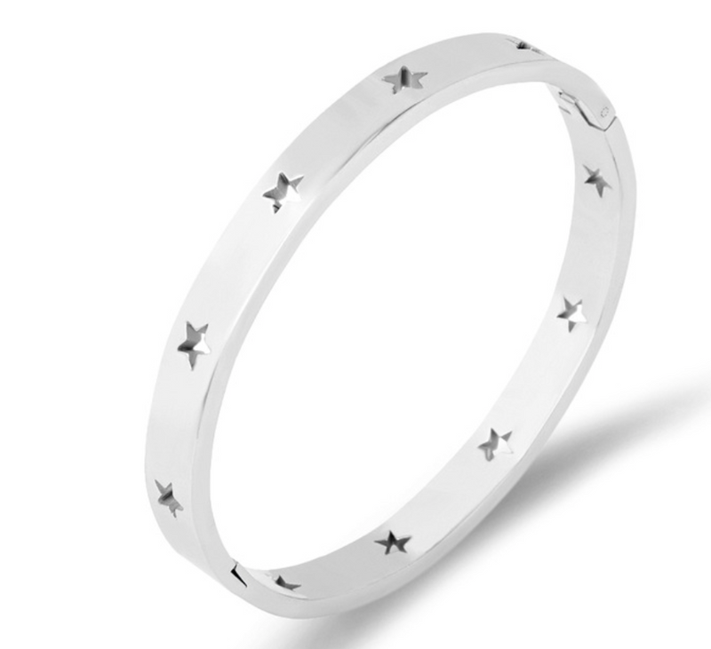 Cut Out Star Bangle