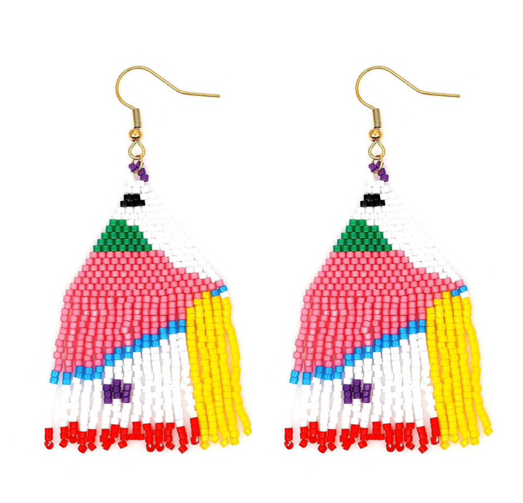 Calliope Beaded Fringe Drops