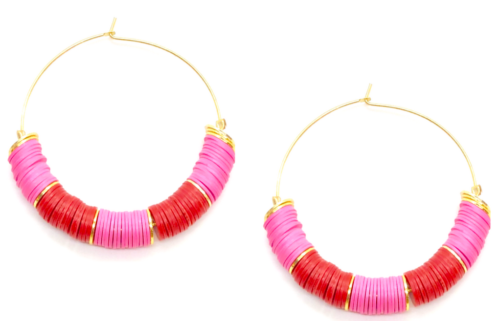 Valentina Colorblock Disc Hoops