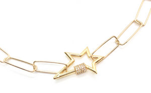 Star Clasp Link Necklace