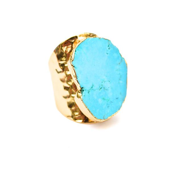 Turquoise Mesa Ring Cuff (2 week ship)