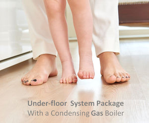 Gas boiler Underfloor package suits up to 130 Sqm home  6 loops 4 control zones