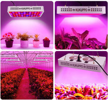 Load image into Gallery viewer, NG-GLW-1200 LED Grow Light Full Spectrum Lights Indoor Gardening Veg Bloom Flower Hydroponics Linkable Lamps KUKUPPO