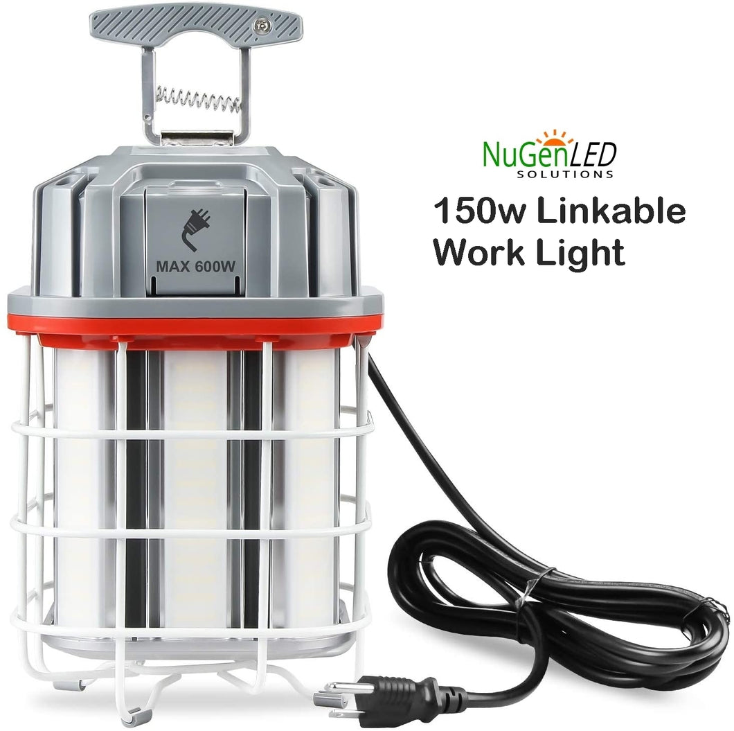 NuGen LED Solutions 150w LINKABLE Construction Work Light 5YR Warranty 21000 Lumens