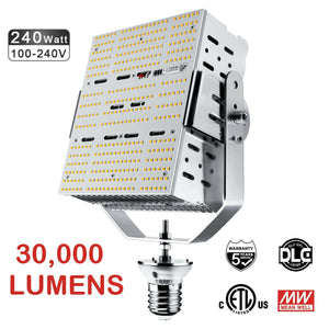 NGRK-240W LED DLC Shoebox Retrofit Kit 5000K CHOOSE 120-277V or 480v 30,000LM - 5yr Warranty