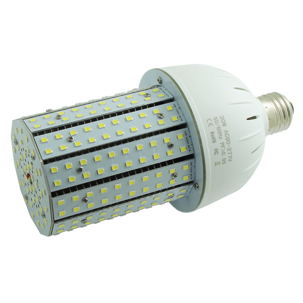 NuGen LED 30 Watt Corn Bulb 4,332 Lumens 6000k 5 Year Warranty 120-277V E26 Medium Base