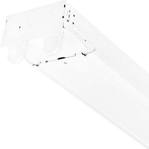COMPLETE 2 Bulb 4FT LED Ready TCP-10403 Fixture w/ 2 DLC Certified 18 Watt 5000K LED Tubes 4680 Lumens total