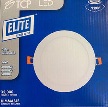 Load image into Gallery viewer, L12EL6DCCT2 TCP 6 inch ELITE Snap In Downlights Canless Color Selectable 3000k 4000k 5000k 14 Watts