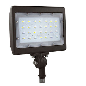 NuGen LED 50 Watt Flood - PREMIUM DLC 5000K 120V-277V 80 CRI 5793LM Knuckle or Trunnion LEDMPALPRO50