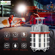 Load image into Gallery viewer, NuGen LED Solutions 80w LINKABLE Construction Work Light 5YR Warranty 11200 Lumens