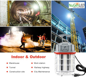 NuGen LED Solutions 125w LINKABLE Construction Work Light 5YR Warranty 17500 Lumens