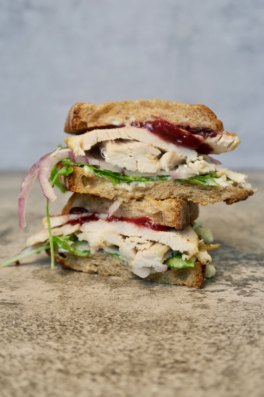 turkey leftovers sandwich