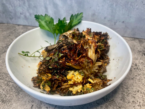 hen of the woods mushrooms roasted