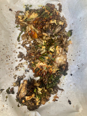 hen of the woods roasted