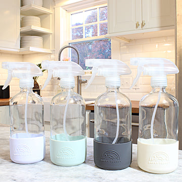 Refillable Glass Spray Bottles with Silicone Sleeves - Earth Collection