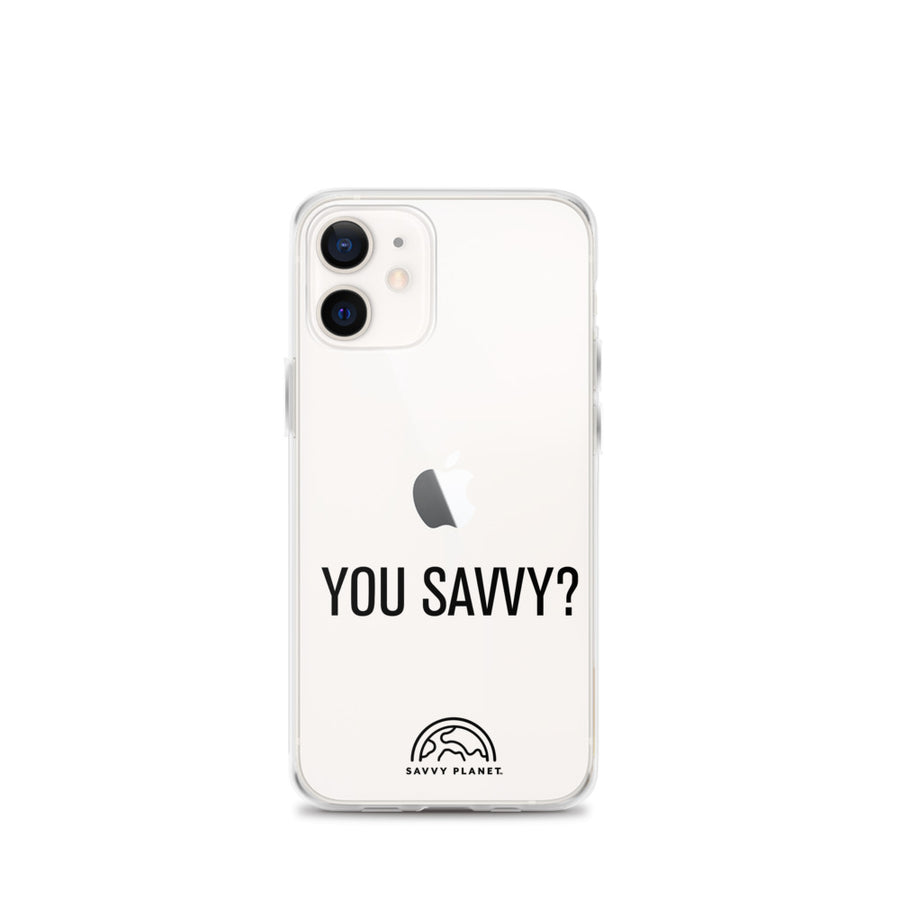 iPhone 12 Case - Clear with Black Print