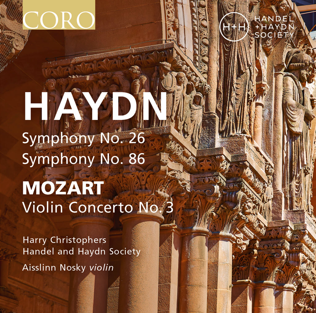 Haydn Symphonies Nos. 26 & 86 album cover showing Trinity Church in Boston, MA, USA