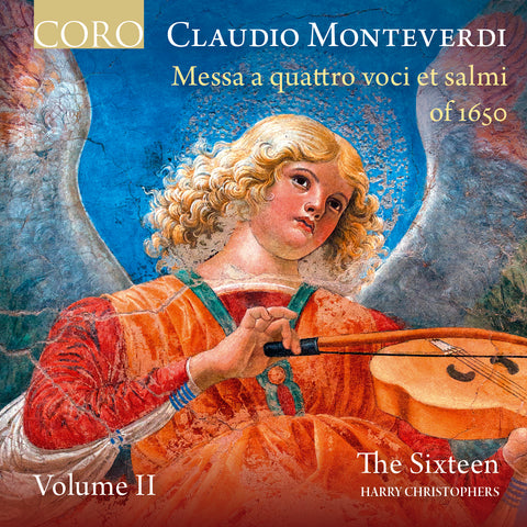 Monteverdo: Messa a quattro Volume 2 cover showing 'Angel Musician', a 15th Century fresco by Melozzo da Forli