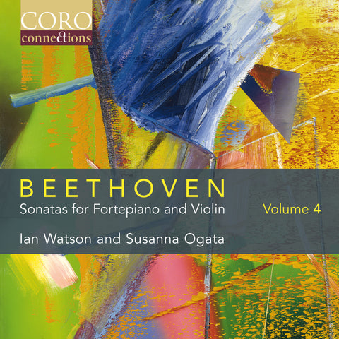 'Beethoven: Sonatas for Fortepiano & Violin Volume 4' album cover showing 'Hedge' a 1982 abstract painting by Gerhard Richter