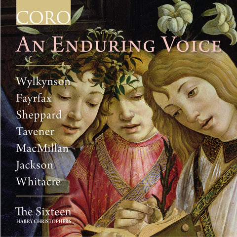 An Enduring Voice album cover showing three people looking at a book and singing
