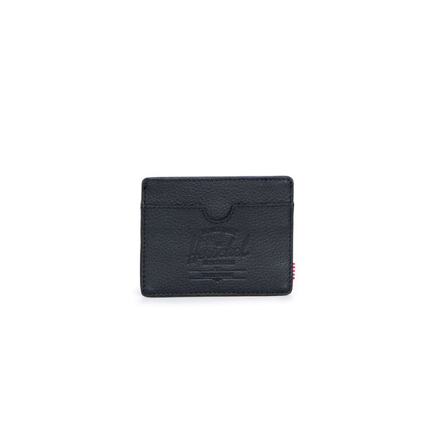 Herschel Supply Co Charlie Wallet - Black Pebbled Leather