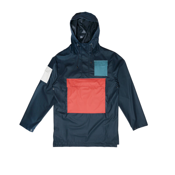 RAINS Camp Anorak- Blue
