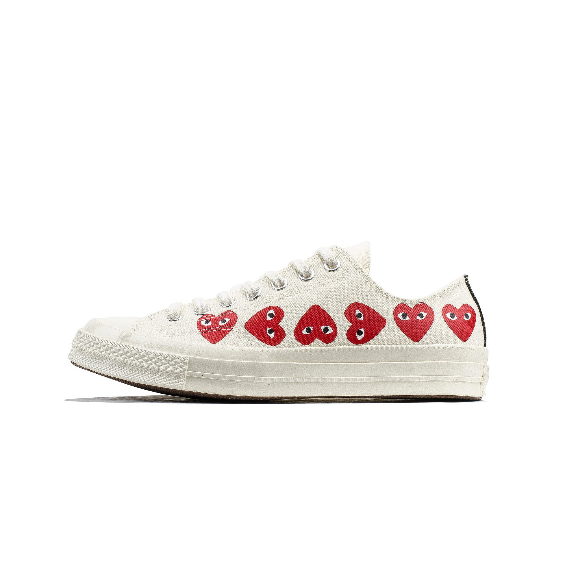 6cb904f99b15 Comme des Garcons PLAY x Converse Chuck 70 Low Multi Heart  162975C