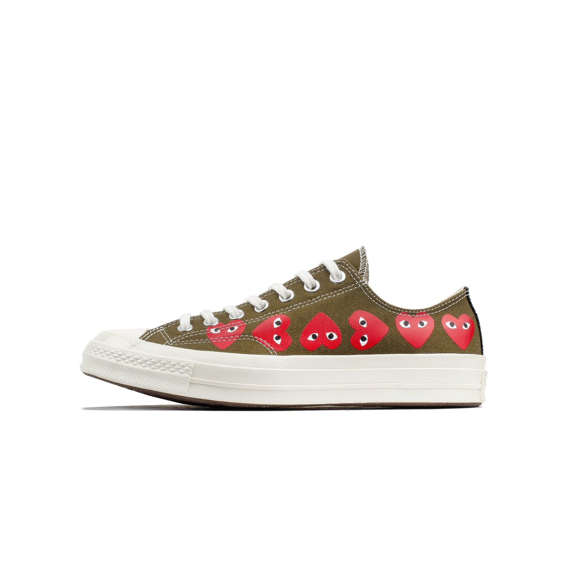 97d2a4fbda8b Comme des Garcons PLAY x Converse Chuck 70 Low Multi Heart  162976C