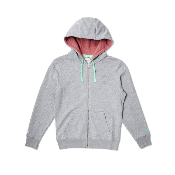 "Diadora x AFEW Men's ""Highly Addictive"" Zip Hoodie- Grey"